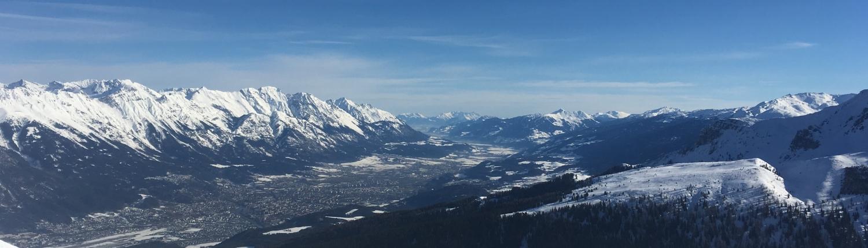 Innsbruck von Pleisen im Winter